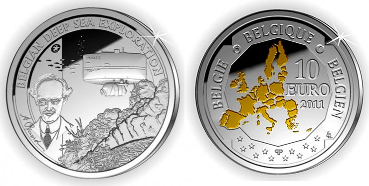 Belgian deep sea exploration 10 euro