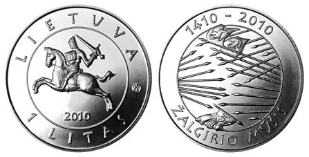 Coin issued to commemorate the 600th anniversary of the Grünwald Battle