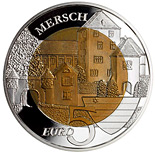Le Château de Mersch Luxembourg 5 euro commemorative coin Fauna and Flora in Luxembourg