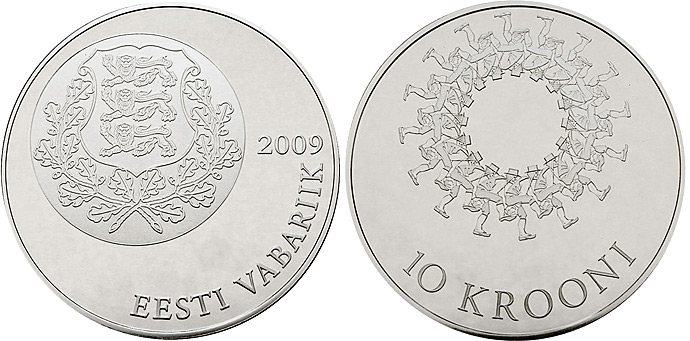 Commemoratiove coin Estonia 2009 Estonian Song and Dance Festivals