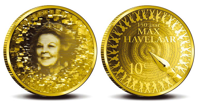 10 Euro Max Havelaar 2010 gold coin