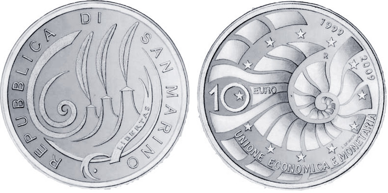 Sam marino 10 euro silver proof coin 10TH ANNIVERSARY OF INTRODUCTION OF EUROPEAN MONETARY UNION AND EURO